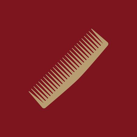 barbershop: The comb icon. Barbershop symbol. Flat Vector illustration