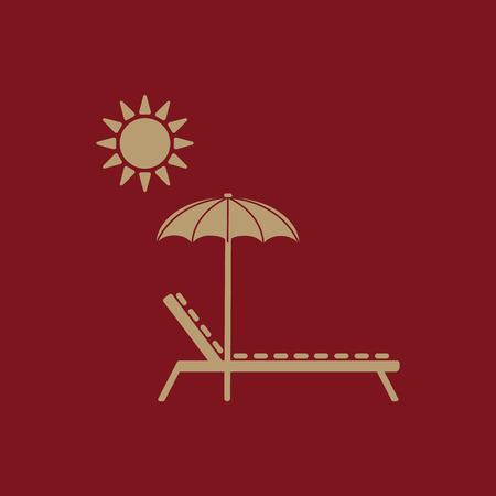 recliner: The lounger icon. Sunbed symbol. Flat Vector illustration Illustration