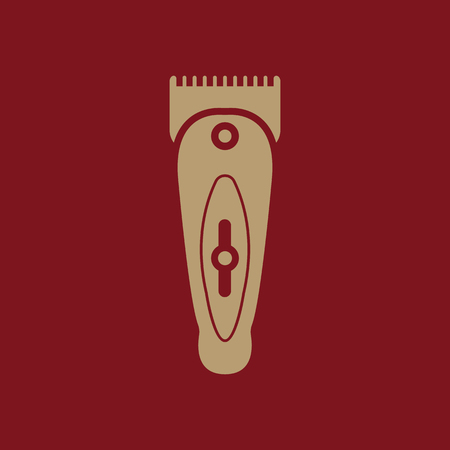 hairclipper: The hairclipper icon. Shaver symbol. Flat Vector illustration