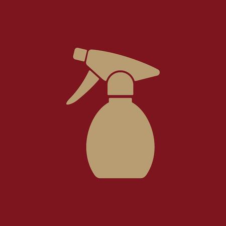 pulverizer: The sprayer icon. Atomizer symbol. Flat Vector illustration Illustration