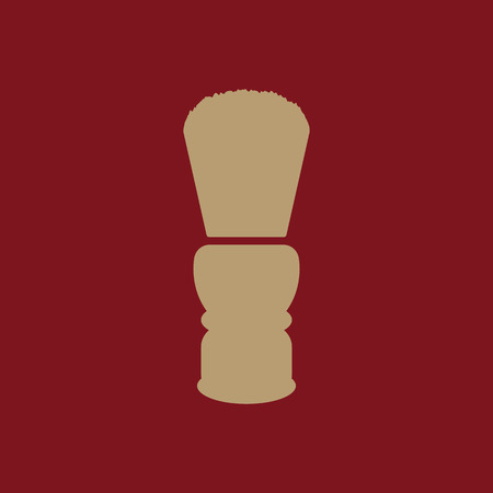 shaving brush: The shaving brush icon. Shaver symbol. Flat Vector illustration
