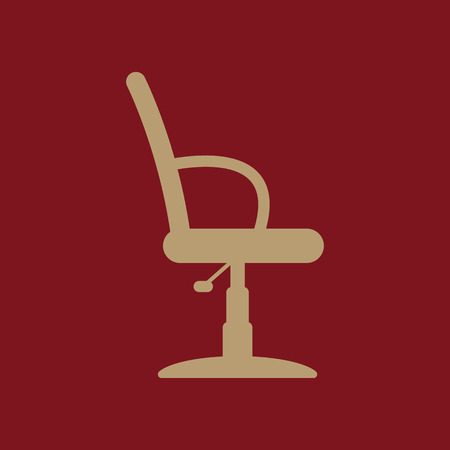 barber chair: The barber chair icon. Armchair symbol. Flat Vector illustration
