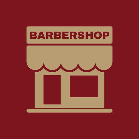 barbershop: The barbershop building icon. Barbershop symbol. Flat Vector illustration