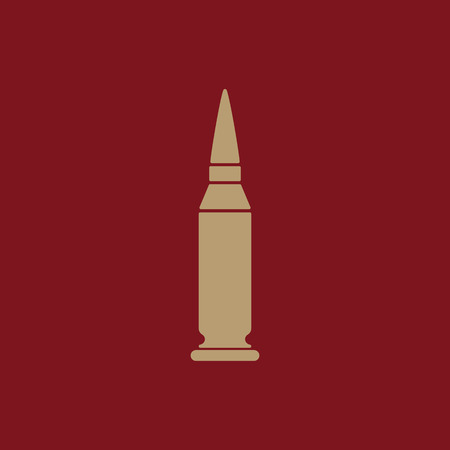 The bullet icon. Weapon symbol. Flat Vector illustration