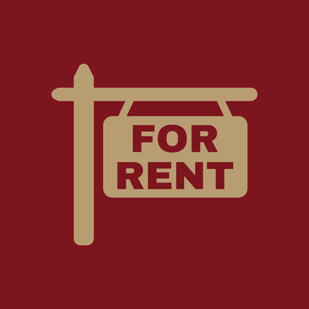 rent: The for rent icon. Rent symbol. Flat Vector illustration