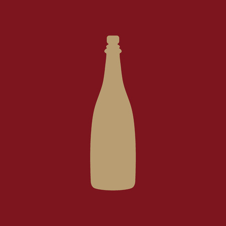 popping cork: The champagne icon. Wine symbol. Flat Vector illustration