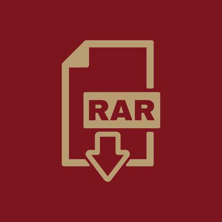 compressed: The RAR file icon. Archive, compressed symbol. Flat Vector illustration