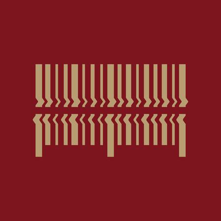 barcode scanning: Scan the bar code icon. Barcode scanning symbol. Flat Vector illustration Illustration
