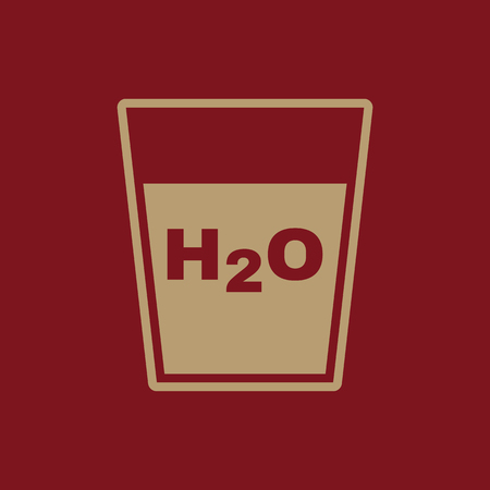 h2o: The H2O icon. Water and drink, aqua symbol. Flat Vector illustration
