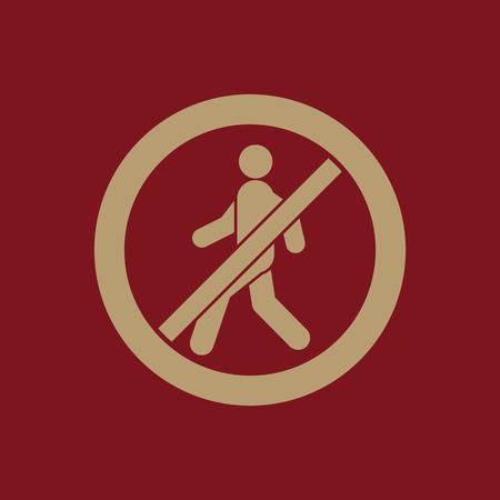 disallowed: The no entry icon. Disallowed and danger, warning symbol. Flat Vector illustration