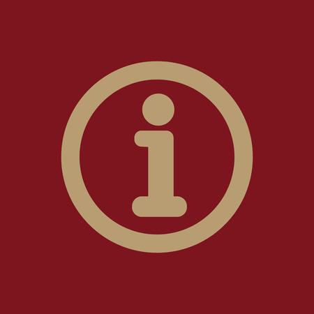 The information icon. Info and faq symbol. Flat Vector illustration Illustration