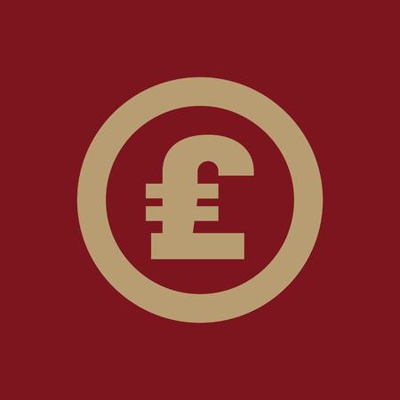 libra esterlina: El icono de la libra esterlina. Dinero en efectivo y el dinero, la riqueza, símbolo de pago. Ilustración vectorial Flat