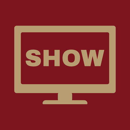 tv show: The tv show icon. Television and telly, telecasting, broadcast symbol. Flat Vector illustration