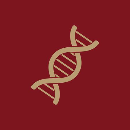 cromosoma: El icono de ADN. La genética y la medicina, molécula, cromosomas, símbolo biología. Ilustración del vector plana