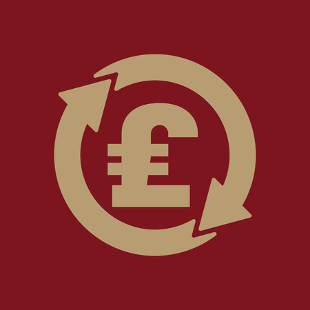 libra esterlina: The currency exchange pound sterling icon. Cash and money, wealth, payment symbol. Flat Vector illustration Vectores