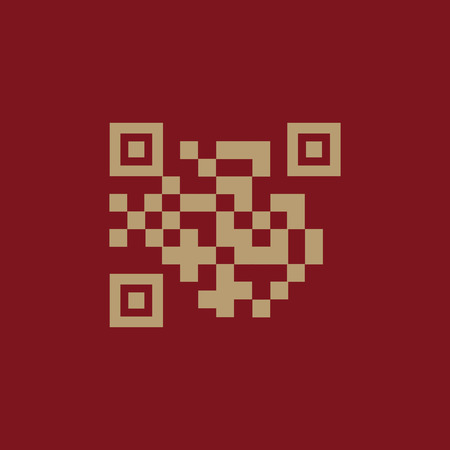 url: The QR code icon. Link and URL symbol. Flat Vector illustration