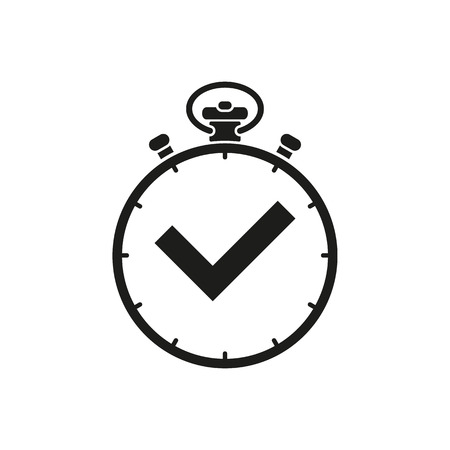 The stopwatch icon. Clock and watch, timer, countdown symbol. UI. Web. . Sign. Flat design. App. Stock vector Illustration