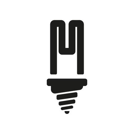fluorescent light: The fluorescent light bulb icon. Lamp and bulb, lightbulb symbol.UI. Web.go. Sign. Flat design. App. Stock vector