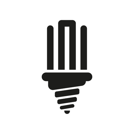 fluorescent light: The fluorescent light bulb icon. Lamp and bulb, lightbulb symbol.UI. Web. . Sign. Flat design. App. Stock vector