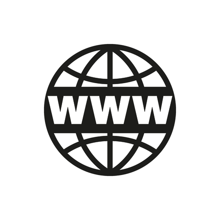 The WWW icon. SEO and browser, development symbol. UI. Web. . Sign. Flat design. App. Stock vector