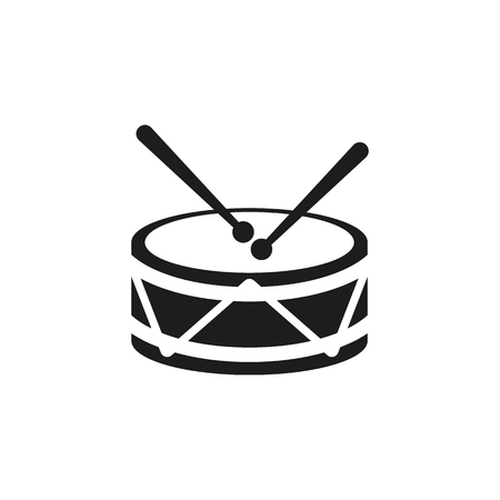 Drum Icon Design Music And Toy Symbol Web Graphic AI