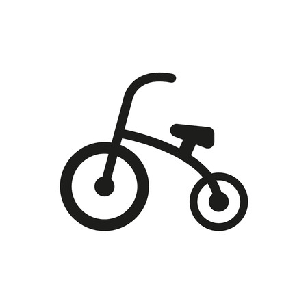 Tricycle icon. design. Bike, bicycle symbol. web. graphic. AI. app. . object. flat. image. sign. eps. art. picture - stock vector Illustration