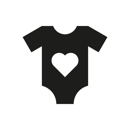 romper: Romper suit icon. design. Shirt, clothes symbol. web. graphic. AI. app. . object. flat. image. sign. eps. art. picture - stock vector Illustration