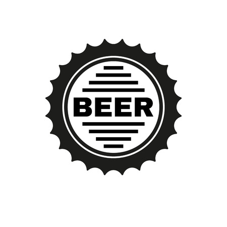 barley hop: The beer icon. Pub and beer, alcohol symbol. UI. Web. . Sign. Flat design. App. Stock vector