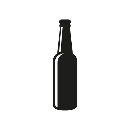 Bottle of beer icon. Beer and pub, bar symbol. UI. Web. . Sign. Flat design. App.Stock vector