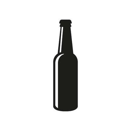 Bottle of beer icon. Beer and pub, bar symbol. UI. Web. . Sign. Flat design. App.Stock vector