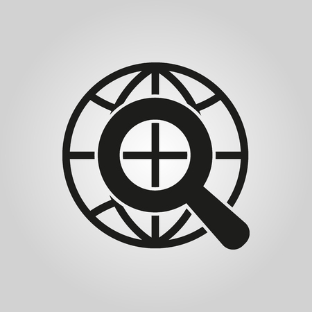 The SEO icon. WWW and browser, development, search symbol. UI. Web. . Sign. Flat design. App. Stock vector