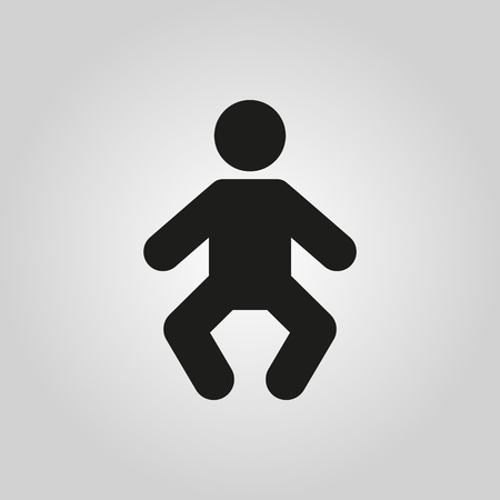 suckling: Baby icon. design. Child, kid, infant, babe, suckling, cheeper, babbie symbol. web. graphic. AI. app. . object. flat. image. sign. eps. art. picture - stock vector