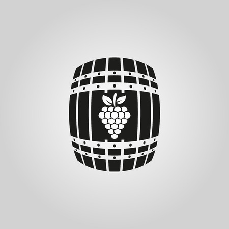 cask: The wine icon. Cask and keg, alcohol symbol. UI. Web. . Sign. Flat design. App. Stock vector Illustration