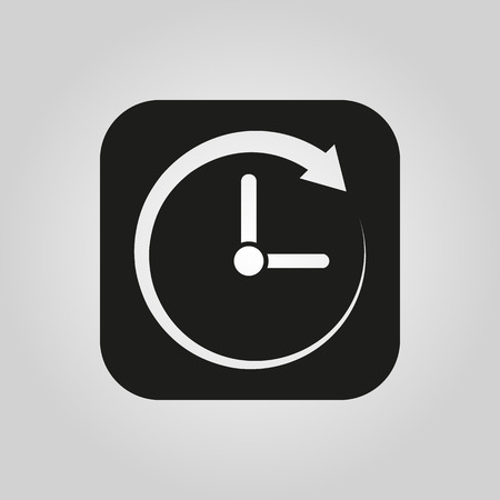watch movement: Time icon. Time and watch, timer symbol. UI. Web. . Sign. Flat design. App. Stock vector Illustration