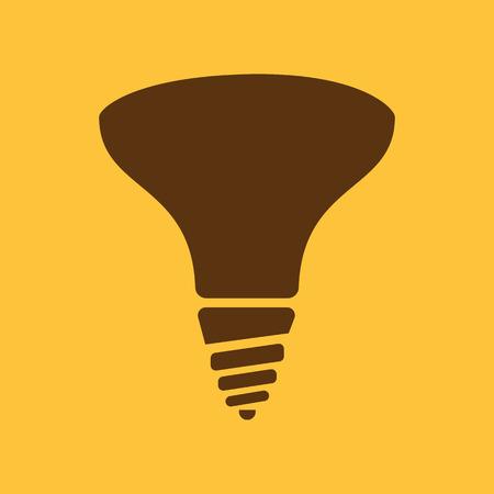 Die Halogenlampe Symbol. Lampe Und Glühbirne, Glühbirne Symbol.UI ...