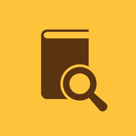 Book search icon. vector design. Library, search symbol. web. graphic. JPG. AI. app. logo. object. flat. image. sign. eps. art. picture - stock vector