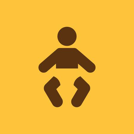 suckling: Baby icon. design. Child, kid, infant, babe, suckling, cheeper, babbie, Baby symbol. web. graphic. AI. app. logo. object. flat. image. sign. eps. art. picture - stock vector Illustration