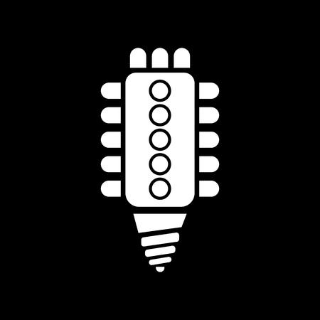 led lamp: The led lamp icon. Lamp and bulb, lightbulb, CFL, luminodiode symbol.UI. Web. Logo. Sign. Flat design. App. Stock vector Illustration