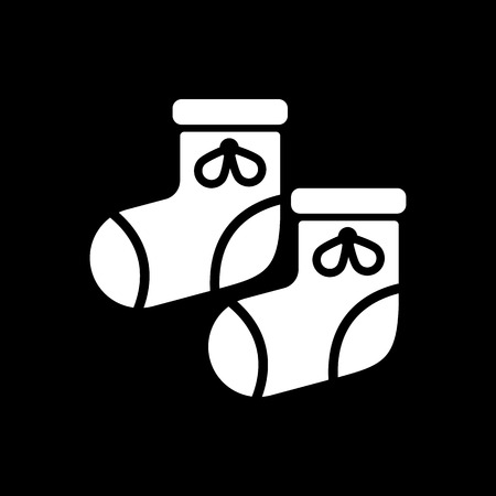 bootees: Babys bootees icon. design. Socks, sox, Babys bootees symbol. web. graphic. AI. app. logo. object. flat. image. sign. eps. art. picture - stock vector