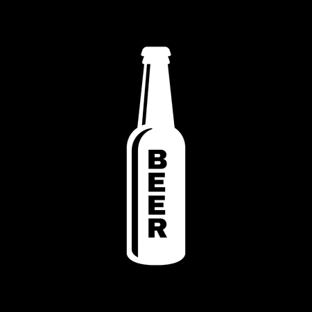 stout: Bottle of beer icon. Beer and pub, bar symbol. UI. Web. Logo. Sign. Flat design. App.Stock vector