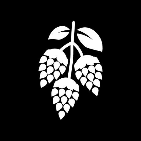 Hops icon. Beer and hop, Hops symbol. UI. Web. Logo. Sign. Flat design. App.Stock vector
