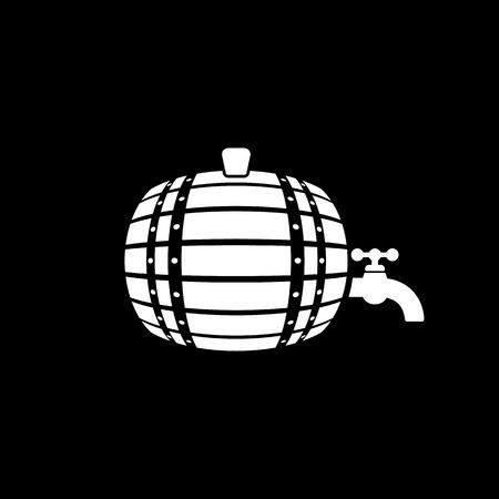 The Barrel icon. Cask and keg, beer, Barrel symbol. UI. Web. Logo. Sign. Flat design. App. Stock vector