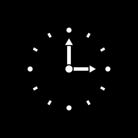 Time, clock icon. Time and watch, timer, clock symbol. UI. Web. Logo. Sign. Flat design. App. Stock vector