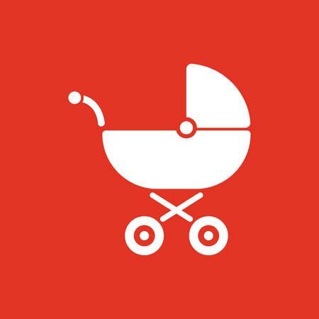 Pram icon. Baby buggy vector design. Baby carriage symbol. web. graphic. JPG. AI. app. logo. object. flat. image. sign. eps. art. picture - stock vector