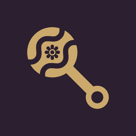 maraca: Beanbag icon. design. Rattle and maraca, clack, Beanbag symbol. web. graphic. AI. app. logo. object. flat. image. sign. eps. art. picture - stock vector