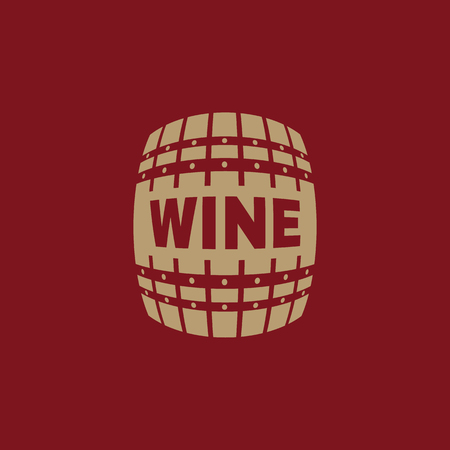 winemaking: The wine icon. Cask and keg, alcohol, wine symbol. UI. Web. Logo. Sign. Flat design. App. Stock vector