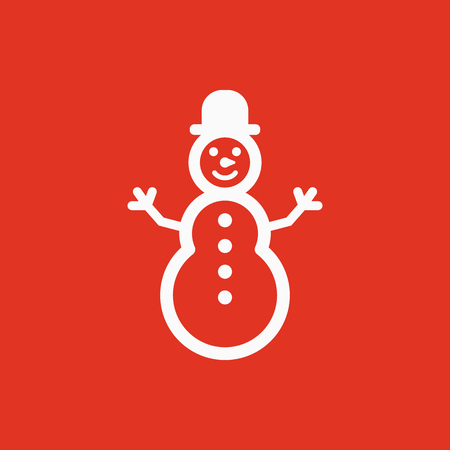 Snowman icon. New year and xmas, christmas, winter symbol. Flat design. Stock - Vector illustration Stok Fotoğraf