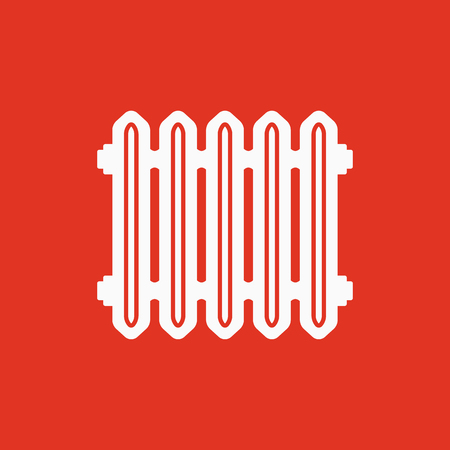 Radiator icon. Heater and heating, heat symbol. Flat design. Stock - Vector illustration 스톡 콘텐츠