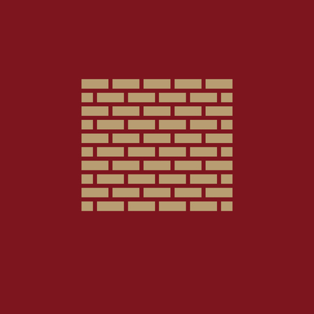 Brick wall icon. Building and construction, development, barrier, side symbol. Flat design. Stock - Vector illustration