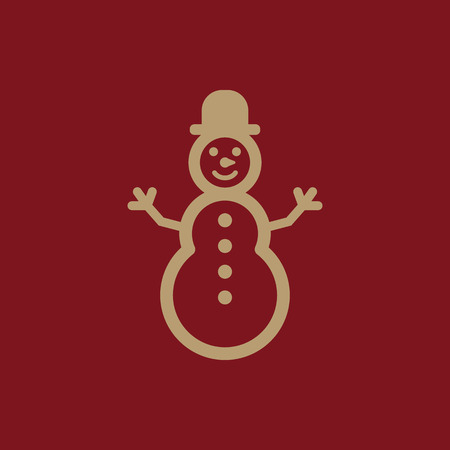 Snowman icon. New year and xmas, christmas, winter symbol. Flat design Stock - Vector illustration